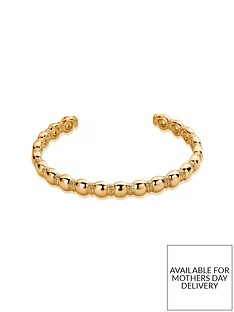 chlobo-chlobo-gold-plated-sterling-silver-entwined-fate-bangle