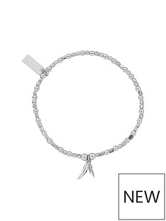 chlobo-chlobo-sterling-silver-mini-cube-double-feather-bracelet