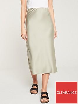 warehouse-satin-bias-cut-midi-skirt-khaki