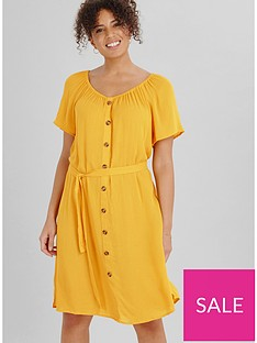 evans-crinkle-button-gypsy-dress