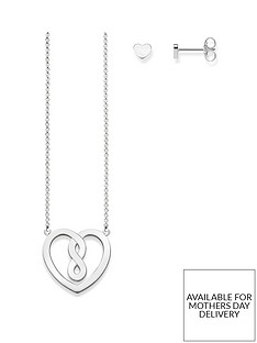 thomas-sabo-thomas-sabo-sterling-silver-infinity-heart-pendant-and-earrings-gift-set