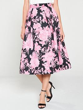 v-by-very-floral-pleated-midi-skirt-print