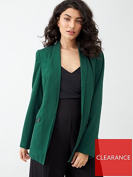 v-by-very-pocket-blazer-green