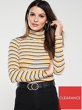 v-by-very-ribbed-roll-neck-top