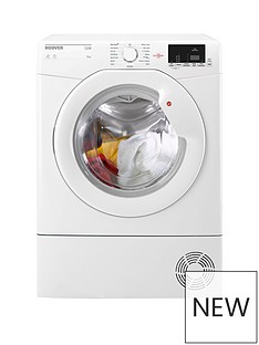 Hoover LinkHLC8DG8kg Sensor Condenser Tumble Dryer with One Touch - White