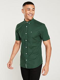 river-island-short-sleeve-oxford-forest