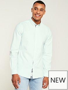 river-island-long-sleeve-oxford-mint