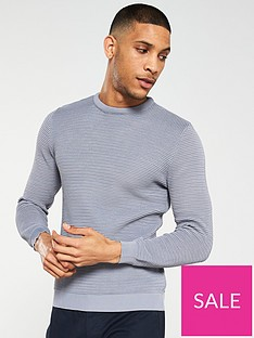 river-island-long-sleeve-grey-poly-texture-crew