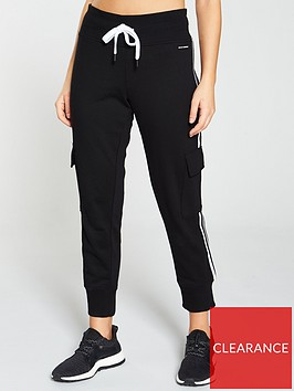 dkny-sport-sports-stripe-cargo-sweat-pants-black