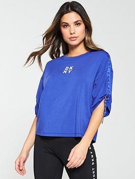dkny-sport-boxy-logo-taping-t-shirt--nbsppurplenbsp