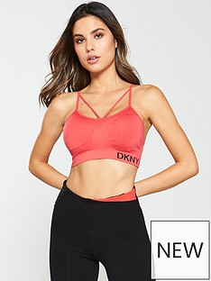 57173443610 DKNY SPORT Low Impact Seamless Sports Bra - Red