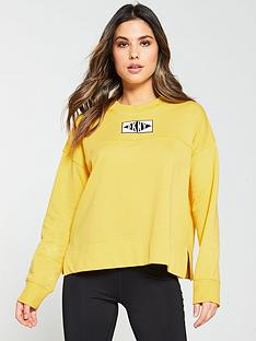 dkny-sport-logo-patch-crew-neck-sweatshirt-yellow