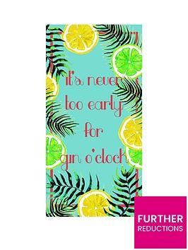 deyongs-gin-oclock-beach-towel