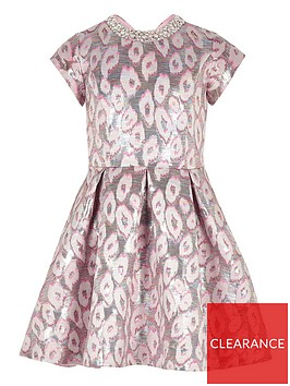 river-island-girls-leopard-print-jacquard-prom-dress-pink