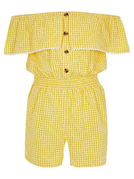 river-island-girls-gingham-bardot-playsuit-yellow