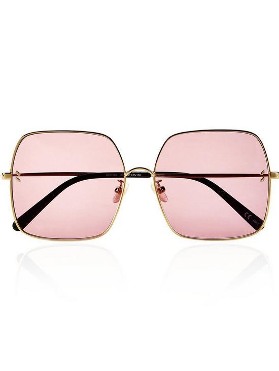00a4b8ec76f2 Stella McCartney Oversized Square Sunglasses - Gold | very.co.uk