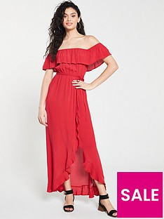 river-island-bardot-maxi-dress--red