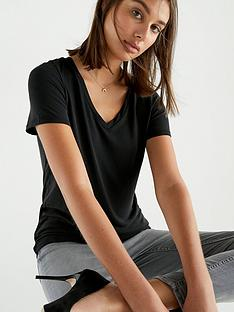 v-by-very-the-essential-premium-soft-touch-v-neck-t-shirt-black
