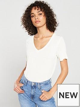 v-by-very-the-essential-premium-soft-touch-v-neck-t-shirt-cream