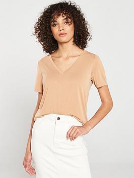 v-by-very-the-essential-premium-soft-touch-v-neck-t-shirt-camel
