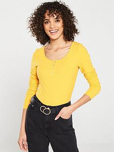 v-by-very-the-essential-long-sleeve-henley-top-mustard