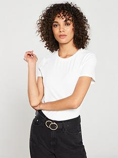 v-by-very-the-essential-ribbed-short-sleeve-top-white