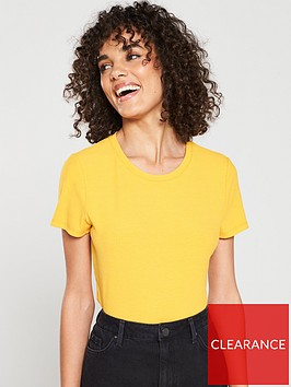 v-by-very-the-essentialnbspribbed-short-sleeve-top-mustard