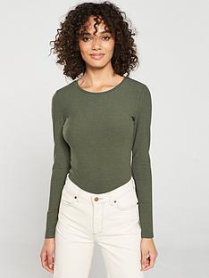 v-by-very-the-essential-ribbed-long-sleeve-top-khaki