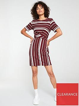 v-by-very-cross-front-dress-stripe