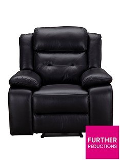 martelle-real-leatherfaux-leather-manual-recliner-armchair
