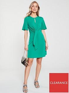 v-by-very-knot-waist-jersey-dress-green