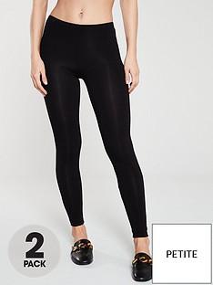 v-by-very-petite-the-essential-petite-2-pack-basic-leggings-black