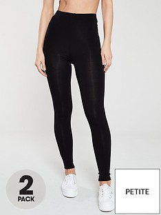 v-by-very-the-essential-petite-2-pack-high-waist-leggings-black