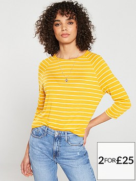 v-by-very-the-essential-three-quarter-sleeved-raglan-top-stripe