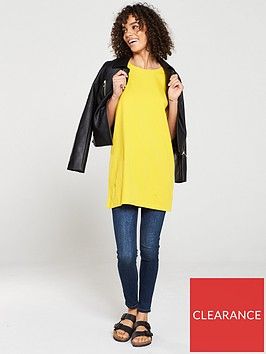v-by-very-the-essential-three-quarter-sleeve-longline-top-yellow