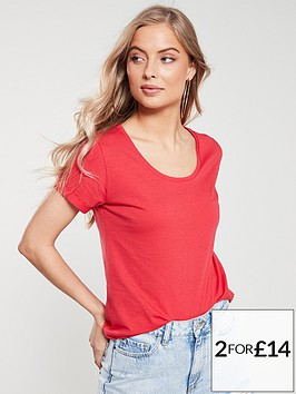 v-by-very-the-essentialnbspscoop-neck-t-shirt-red