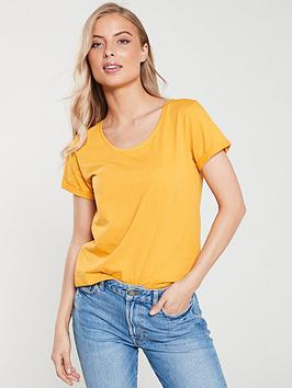 v-by-very-the-essentialnbspscoop-neck-top-mustard