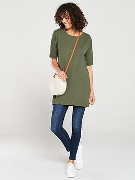 v-by-very-the-essential-three-quarter-sleeve-longline-top-khaki