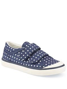 start-rite-bounce-navy-canvas-strap-plimsoll