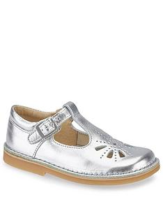 d36735ed632 Start-rite Girls Lottie T-bar Shoes - Silver