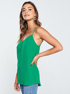 v-by-very-button-front-longline-caminbsp--green