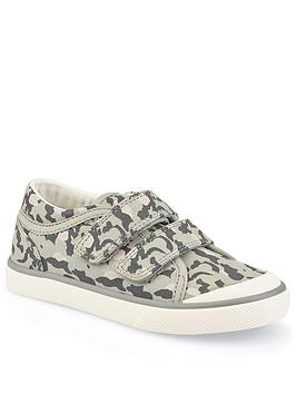start-rite-bounce-camo-canvas-strap-plimsoll