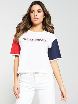 tommy-hilfiger-tee-colorblock-logo-whitenbsp