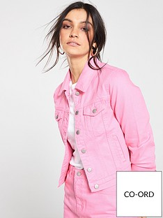 v-by-very-co-ord-denim-jacket-pink