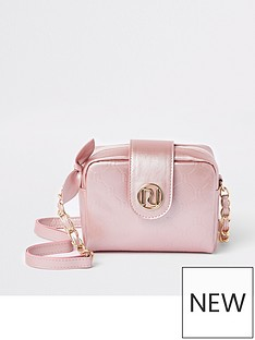 River Island Girls RI Monogram Cross Body Bag - Pink 8e790efc3