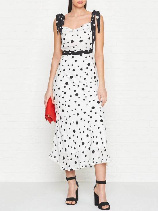 d9ad6f88e09 Ukulele Elissa Polka Dot Midi Dress - Black White
