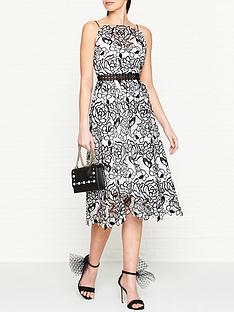 ukulele-monochrome-strappy-lace-midi-dress-blackwhite
