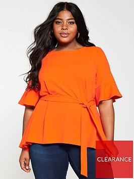 v-by-very-curve-jersey-crepe-belted-top-orangenbspbr-br