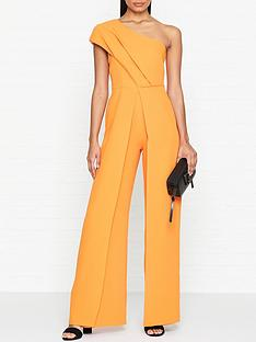 outline-one-shoulder-split-leg-fitted-jumpsuit-orange