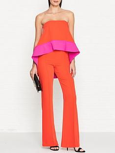 outline-wolsey-contrast-panel-overlay-jumpsuit-pinkred